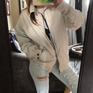 oversized khaki jacket